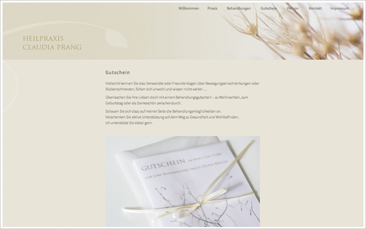 Website Claudia Prang